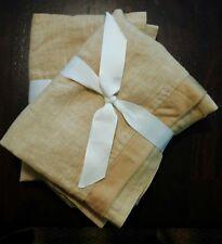 Pottery Barn Linen Standard Sham with Silk Trim in Tan Wheat NEW $49 LAST ONE