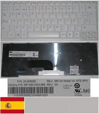 Clavier Qwerty Espagnol LENOVO S12 N7S-SPA MP-08K16E0-686, 25-008568 BLANC