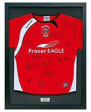 READY MADE FRAME FOR FOOTBALL SHIRT + FREE £5 ENGRAVED
