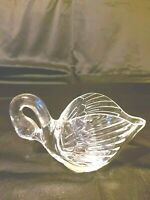 Vintage Lead Crystal Swan Planter Preowned