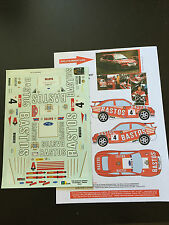 DECALS 1/18 FORD ESCORT SNIJERS RALLYE BOUCLE DE SPA 1997 RALLY WRC HASEGAWA