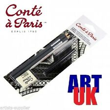 Conte Drawing Set - Artists Graphite Pencils Soft Putty Rubber/Eraser & Charcoal