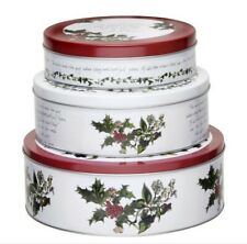 Pimpernel Nesting Cake Tins Set Of 3 Holly Cardinal Holiday Christmas Cookies