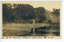 """Streams to Ford"" RPPC Cayey PUERTO RICO Rare Antique Photo 1913"