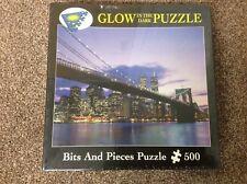 BROOKLYN BRIDGE 500 PIECE SEALED GLOW IN THE DARK JIGSAW PUZZLE (BITS & PIECES)