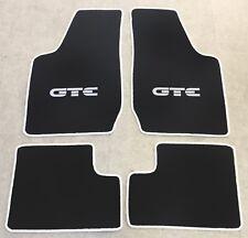 Autoteppich Fußmatten für Opel Kadett D und GTE schwarz weiss 1979-85 Neu 4tlg.