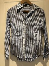 Paul Smith Black Blue White Striped Cotton Button Down Shirt Top 40 S Small