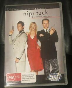 Nip/Tuck : Season 2 (DVD, 2005, 5-Disc Set) Very Good Condition Region 4