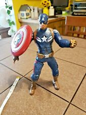 """Marvel 10"""" Captain America  Action Figure Talking Shield Throwing pre-owned"""