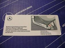 Original Mercedes Aufkleber für ORIS Anhängerkupplung am W124 T-Modell Kombi
