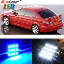 12 x Premium Blue LED Lights Interior Package Kit for 2003-2008 Mazda 6 + Tool