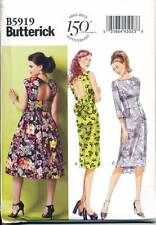 BUTTERICK SEWING PATTERN 5919 MISSES SZ 14-22 DRESS WITH BACK & SKIRT VARIATIONS