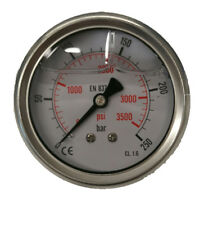 Aktion Hydraulik Manometer Ø 63mm Glycerin Edelstahl 0-250 bar Anschluss: hinten