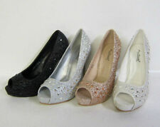 Peep Toes Standard (D) Special Occasion Heels for Women