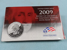 2009 UNITED STATES MINT SILVER QUARTER PROOF SET WITH BOX AND COA