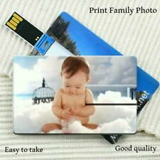 DIY Creative USB 2.0 Flash Credit Card 16GB 32GB USB Flash Drive Pen Drive 4GB 8
