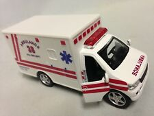 "Rescue Team, Fire Department, Paramedic Ambulance 5"" Diecast Pull Back Toy White"