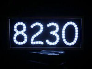LED ADDRESS SIGN ROUTED/ENGRAVED BACK LIT LIGHTED SIGN HOUSE NUMBER PLAQUE