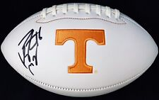 PEYTON MANNING #16 SIGNED TENNESSEE VOLUNTEERS LOGO FOOTBALL PSA/DNA COLTS
