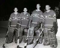 NHL 1963 - 64 Montreal Canadiens Goalies Hodge Worsley & Company 8 X 10 Photo