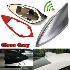 Universal Gray Car Shark Fin FM/AM Signal Antenna Roof Radio Aerial Replacement