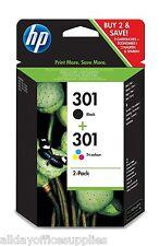 HP 301 Black & Colour Ink Cartridge Combo Pack HP Deskjet 3000 VAT INC N9J72AE