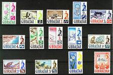 Gibilterra 1960 Definitives sg160 / 173 MNH