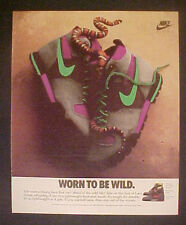 1989 Nike Lava Hiking Boots Mens~Womens Green~Hot Pink Shoes Worn to be Wild AD