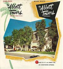 Abbott Towers Apartments  Miami Beach Florida 1950's Brochure Color Photos