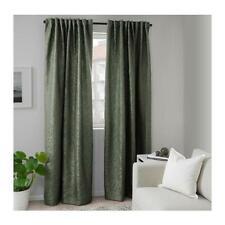 IKEA FRITSE Gardinen Vorhang (145x300cm) 2 Gardinenschal dunkelgrün Verdunkelung