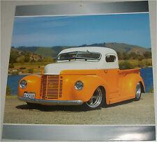 1947 International Pickup truck print (orange & white, modified)