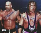 Bill Goldberg Bret Hart Signed 8x10 Photo PSA/DNA COA WWE WCW Picture Autograph