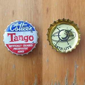 """COTTEES """"SPACE RACE"""" Bottle Cap Top SATELLITE 1960s Soft Drink"""
