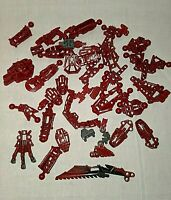 Lego Bionicle Hero Factory Parts Lot Dark Red