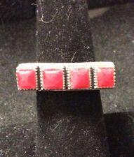 Ring Size 5.5 Vintage Sterling Silver Carnelian