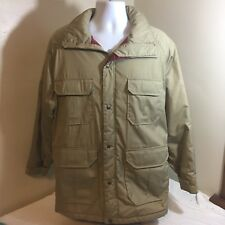 Vtg Woolrich Mens Jacket Coat Parka Medium Tan Hunting Game Pouch No Hood FS!