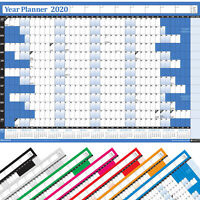 2020 Annual Yearly Wall Calendar Chart 2021 Forward Planner Unmounted B2 B3 Size