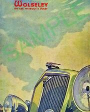 Wolseley Cars Automobilia Advertising Collectables