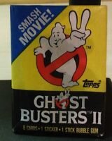 Ghostbusters II Topps Trading Cards Sealed Package Vintage 1989 New 3.5 by 2.5