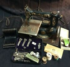 1886 Antique Singer Portable Electric Sewing Machine- B (under table)