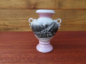 Antique The Pier Hastings Souvenir Ceramic Urn Vase, Made in Germany, Crested