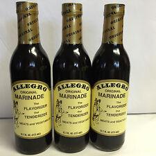 Allegro Tennessee Original Marinade , Spicy 12oz Glass 3 Glass Bottles