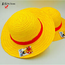 Anime ONE PIECE Cosplay Hat Monkey D Luffy Straw Hat Props Sunhat dia-19cm