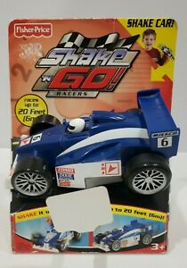 Fisher Price Shake N Go Racers Rally Car Races Up To 20 Feet 2005 Mattel Toy New