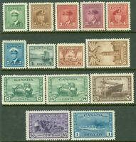 EDW1949SELL : CANADA 1942-43 Scott #249-62 Cplt set. All VF, Mint NH. Cat $192.