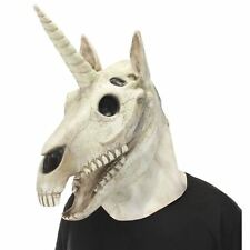 Realistic Unicorn Skull Mouth Mover Latex Halloween Costume Accessory Mask
