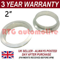 "V-BAND CLAMP STAINLESS STEEL EXHAUST TURBO HOSE REPLACEMENT FLANGES 2"" 51mm"