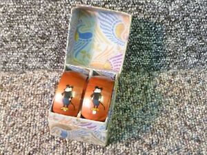 Pair Vintage Mickey Mouse Decorated Bakelite / Plastic Napkin Rings
