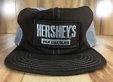 Vintage Hershey's Milk Chocolate Trucker Hat Snapback Adjustable Made in USA