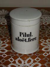 ANTIQUE FRENCH PORCELAIN APOTHECARY PHARMACY STORAGE JAR :Pilul. aloët.ferr.